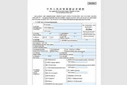 New Online Chinese Visa Form (Version 2019)