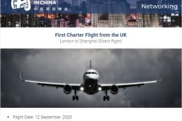 Charter Flight from LON to SHA on 12th Sept